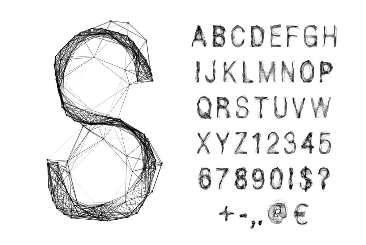 Tangle OpenType Font SVG alphabet