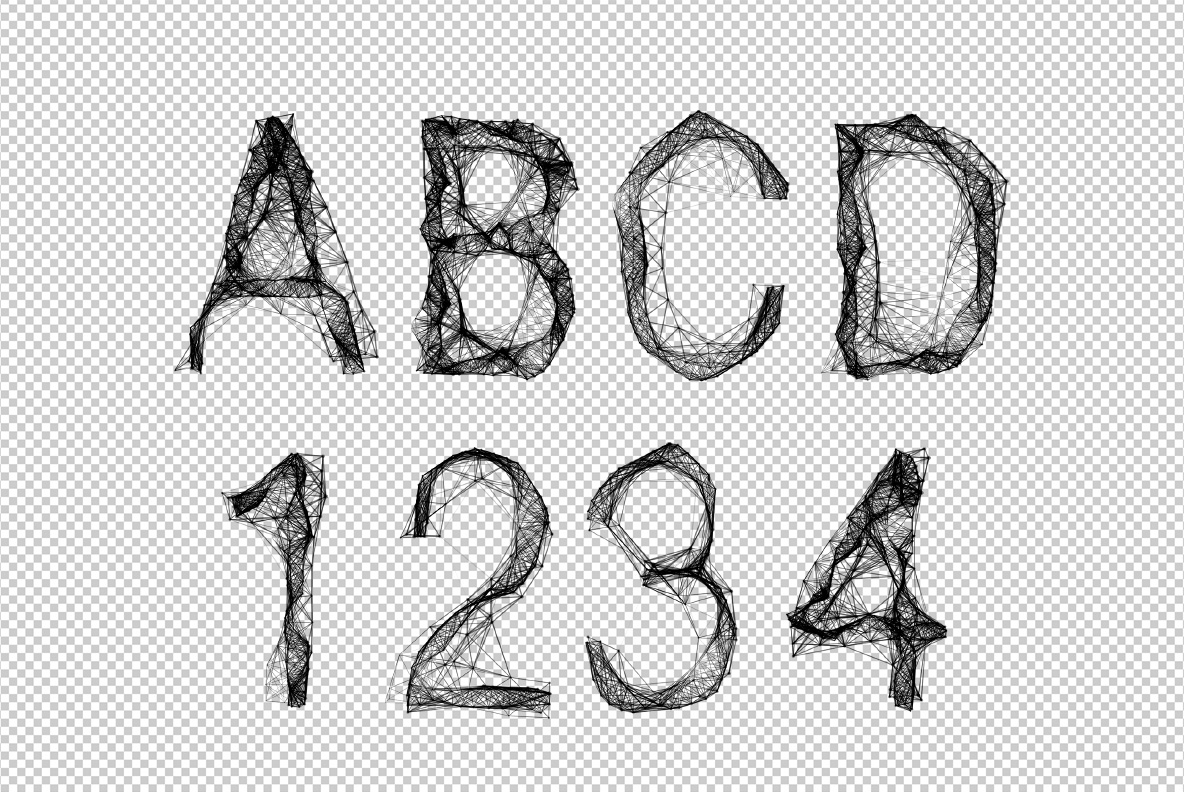 Tangle OpenType Font SVG Photoshop test