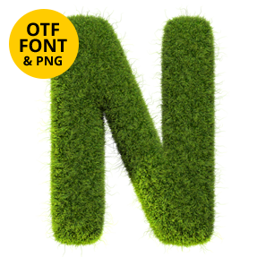 Tennis Grass Font Letter N