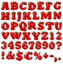 Tomato Red vegetables Font