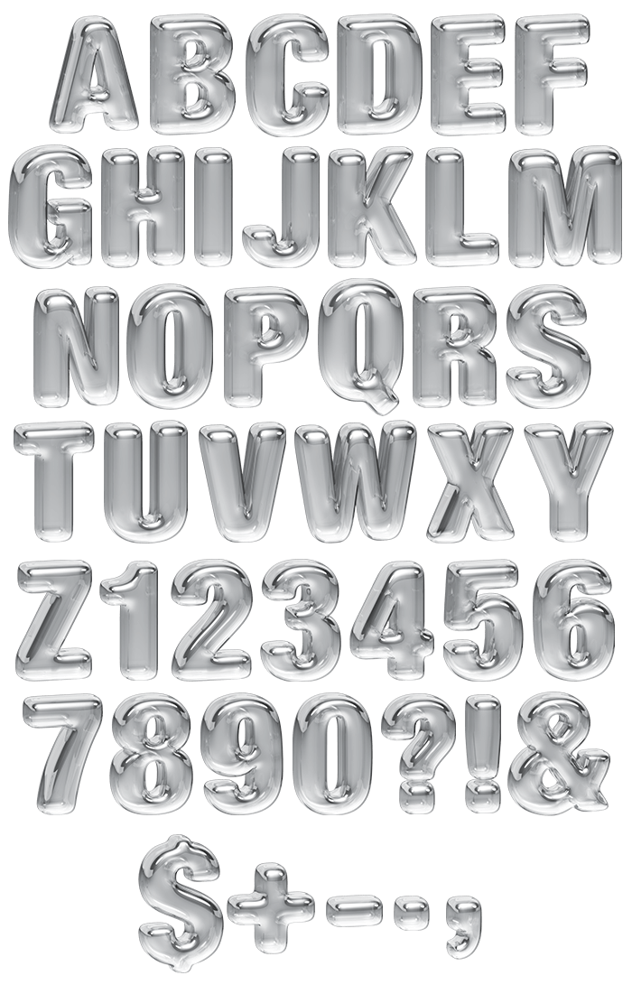 Transparency water Font