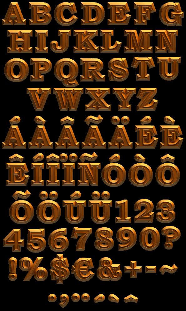 Triumph gold Font