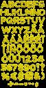 Yellow Flowers handmade Font