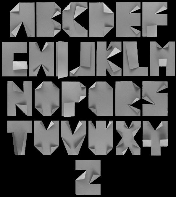 A4 paper Font