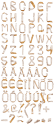Birch Bark nature Font