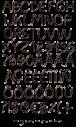 Black Wire handmade Font