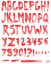 Blood red Font
