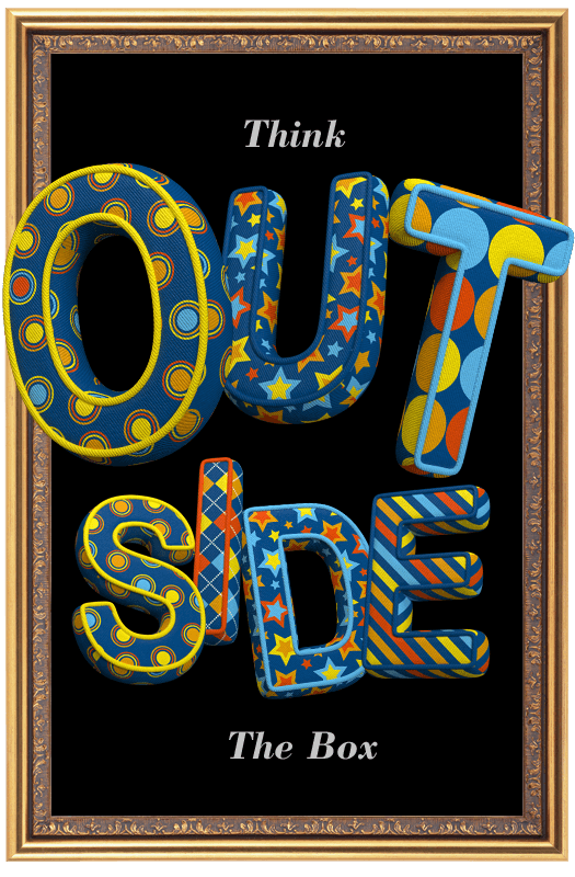 Color Textile funny Font