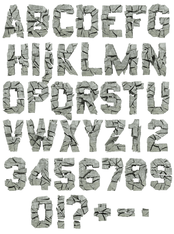Concrete Rock strong Font