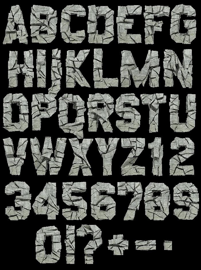 Concrete Rock strong Font