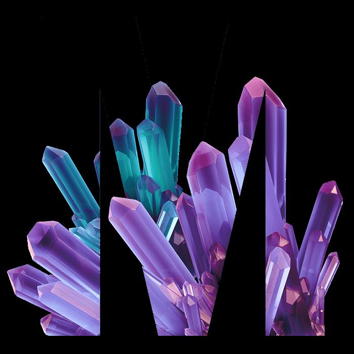 Crystal Inside Font