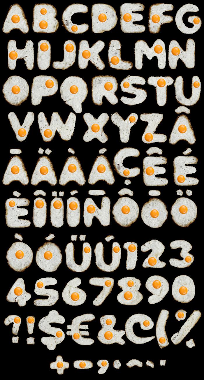 Eggs food Font