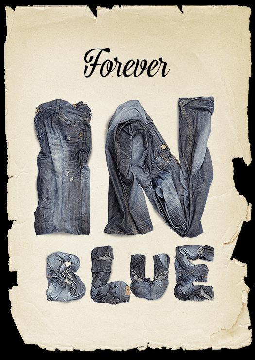 Jeans Dark Blue pants Font