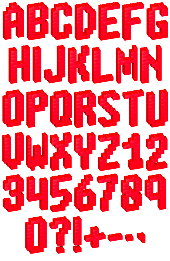 Lego Red play Font