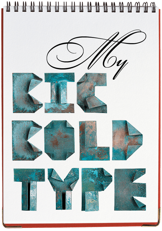 Old Copper origami Font