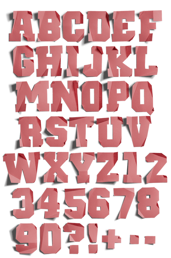 Paper Rose handmade Font