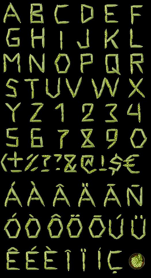 Peas green Font