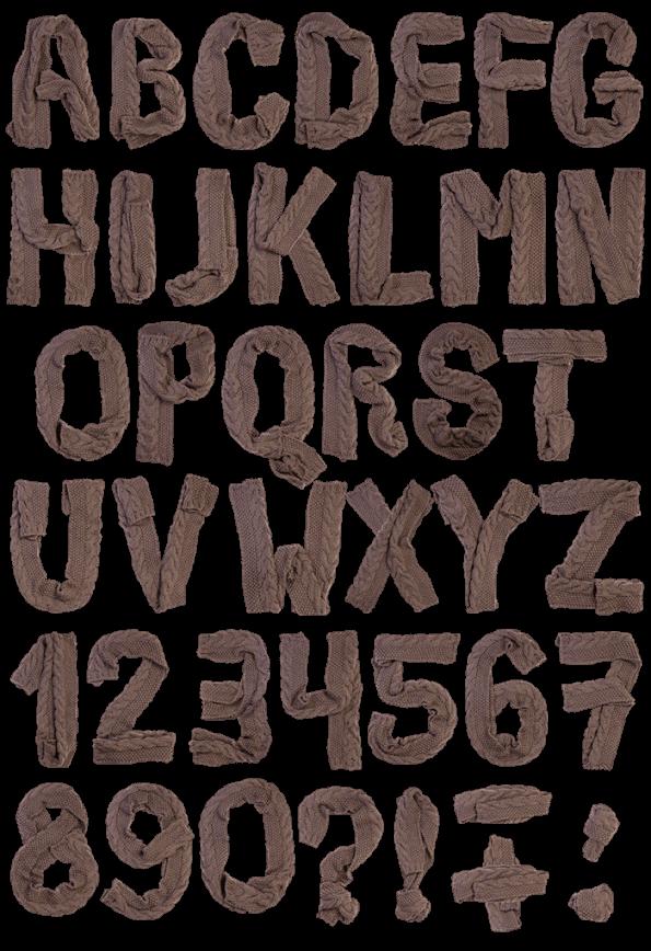 Scarf wrap Font