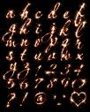Sparkler fire Font