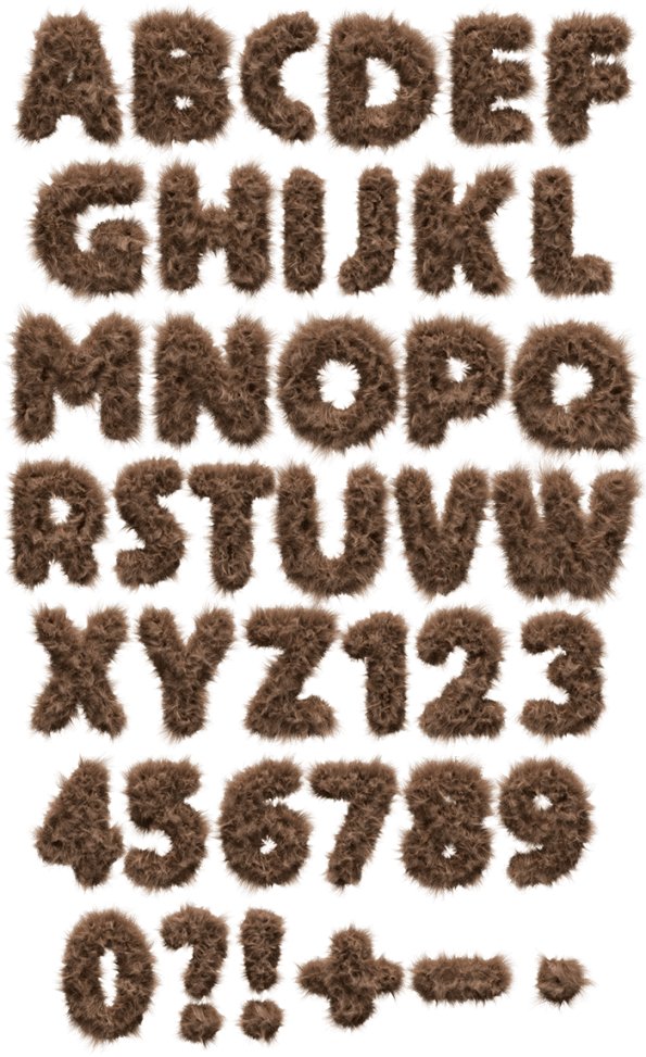 Teddy Bear toy Font