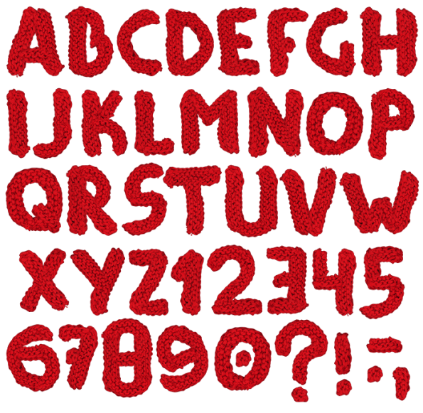 Thread Red handmade Font