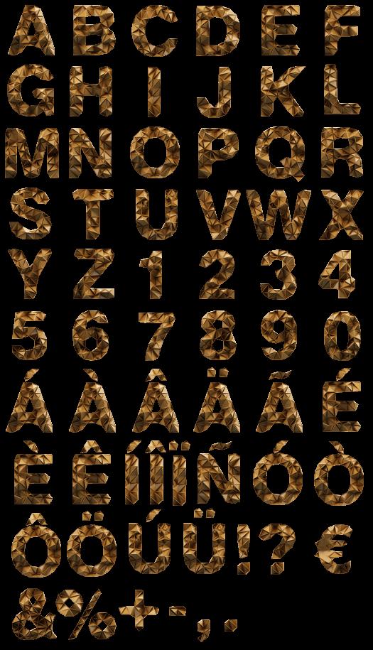 Trigold handmade Font