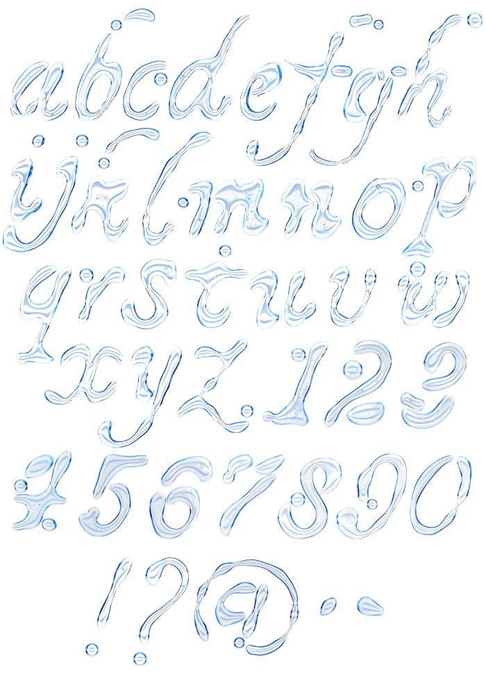 Water white Font