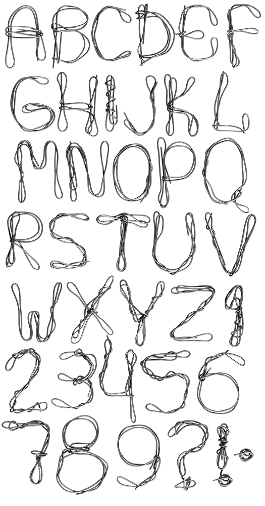 Wire metal Font