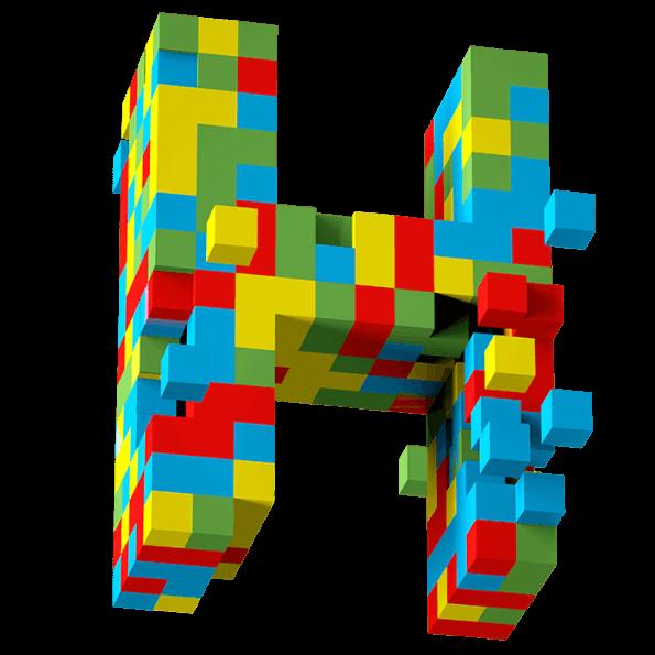 3d Pixel Font