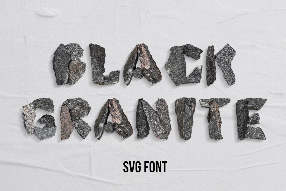 Black Granite OpenType SVG Font