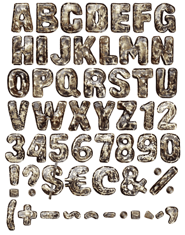 Black Brass dirty Font