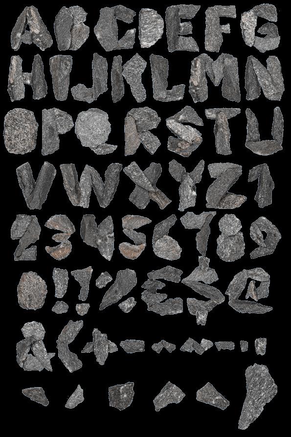 Black Granite mineral Font