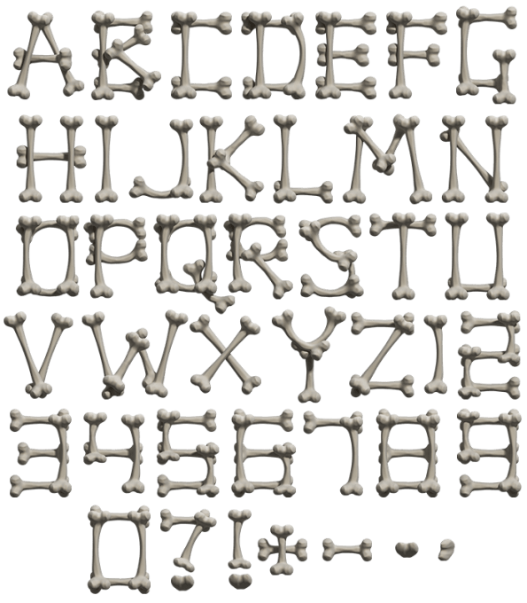 Bone white Font