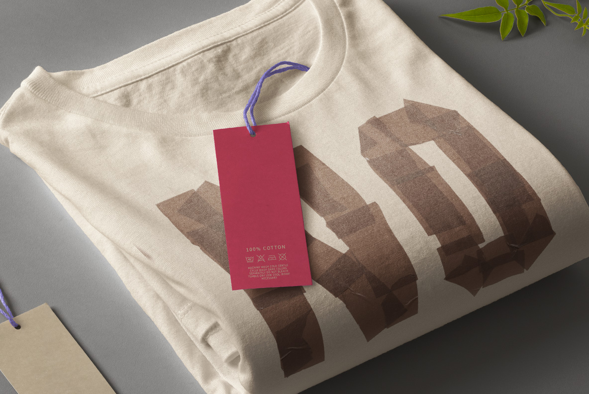 Fancy t-shirt with Brown Tape Font. OpenType Typeface Made By Handmade Font