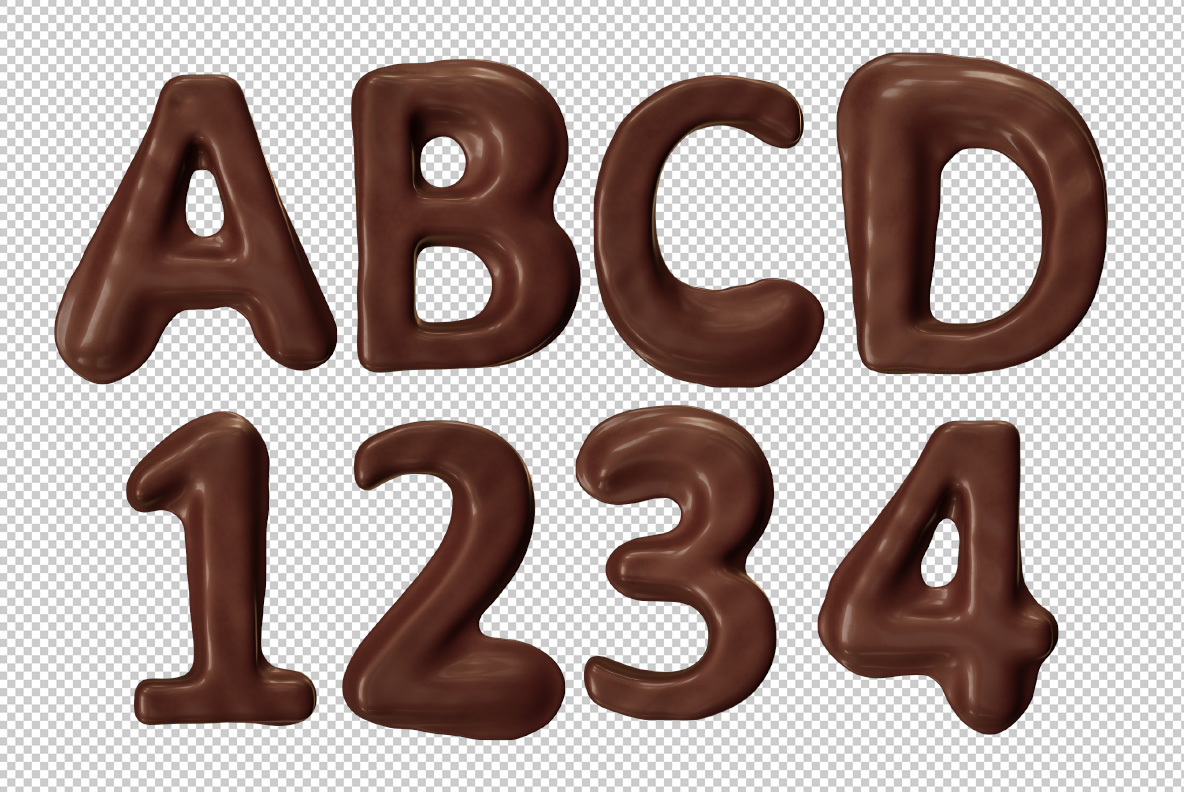 Photoshop test of the Choco Melt Font. Chocolate OpenType Typeface Made By Handmade Font