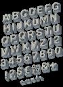 Concrete Block grey Font