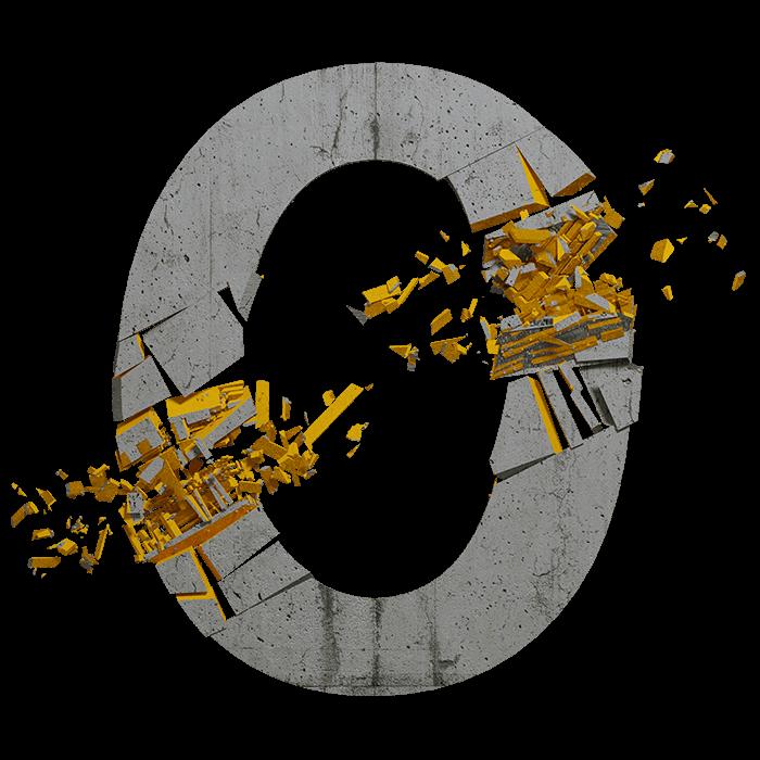 Concrete Explode Font