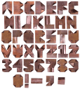 Copper rust Font