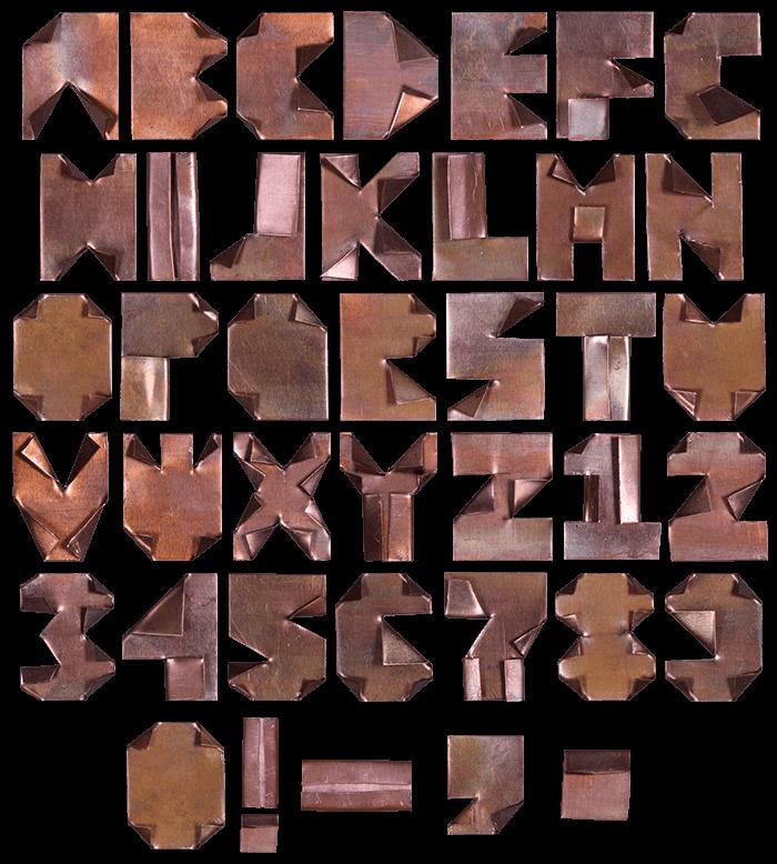 Copper rust Font