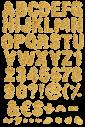 Corn Flakes yellow Font