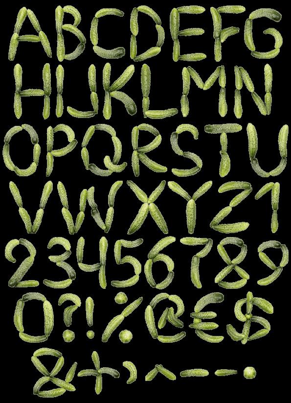 Cucumber green Font