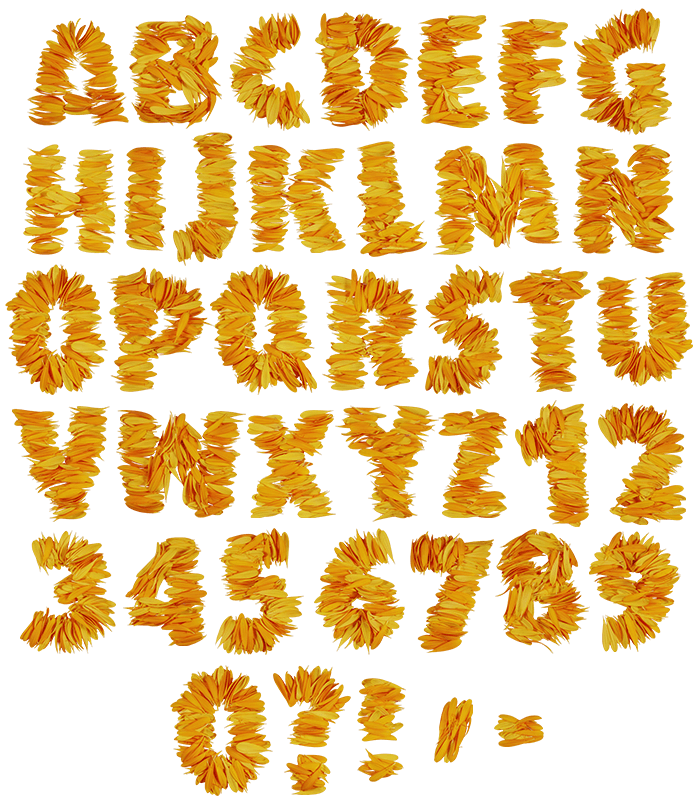 Cvetok flower Font
