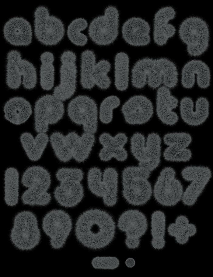 Dust Fur dark Font