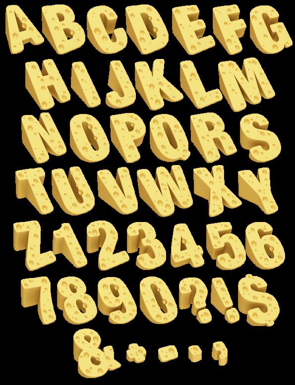 Emmentaler meal Font