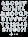 Foam Plastic white Font