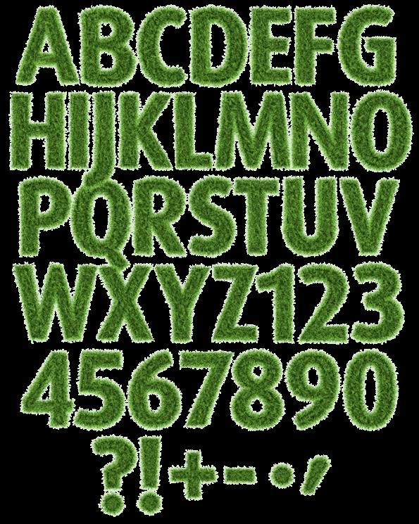 Football grass Font