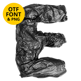 Garbage Bags Font Letter E OpenType SVG