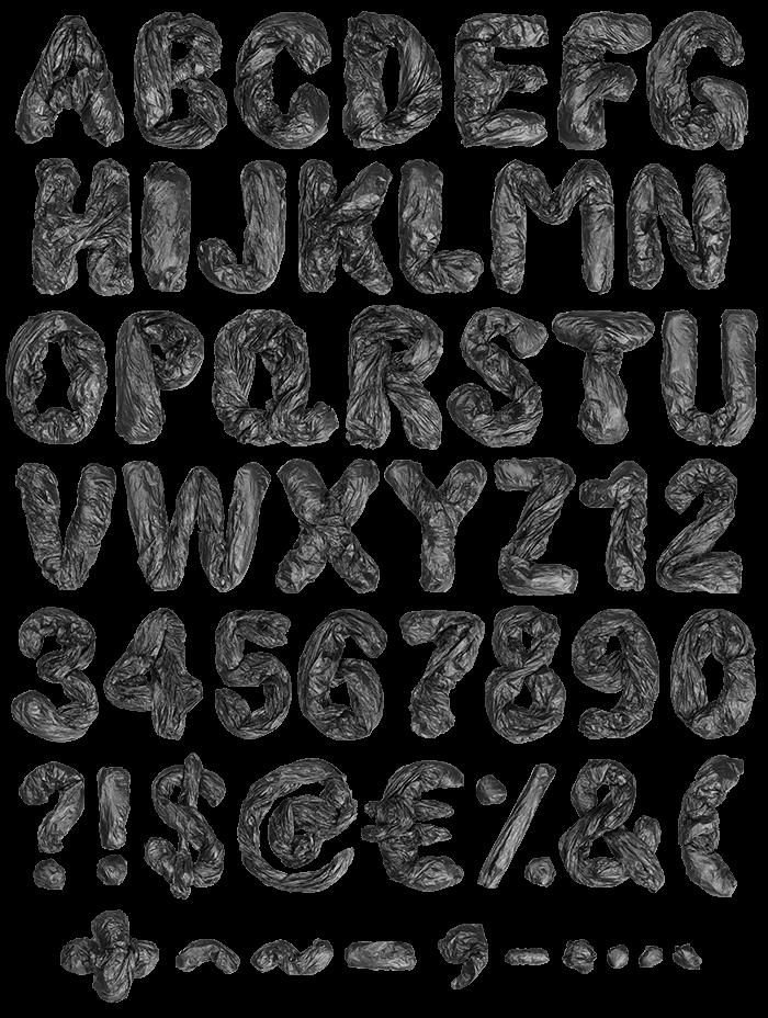 Garbage Pack dark Font
