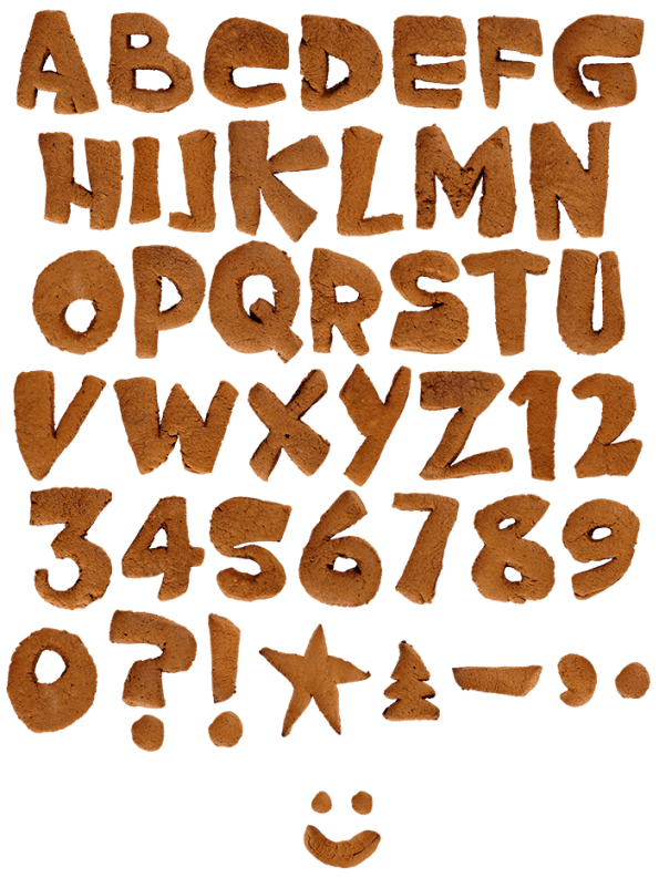 Gingerbread food Font