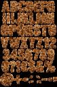 Giraffe animal Font